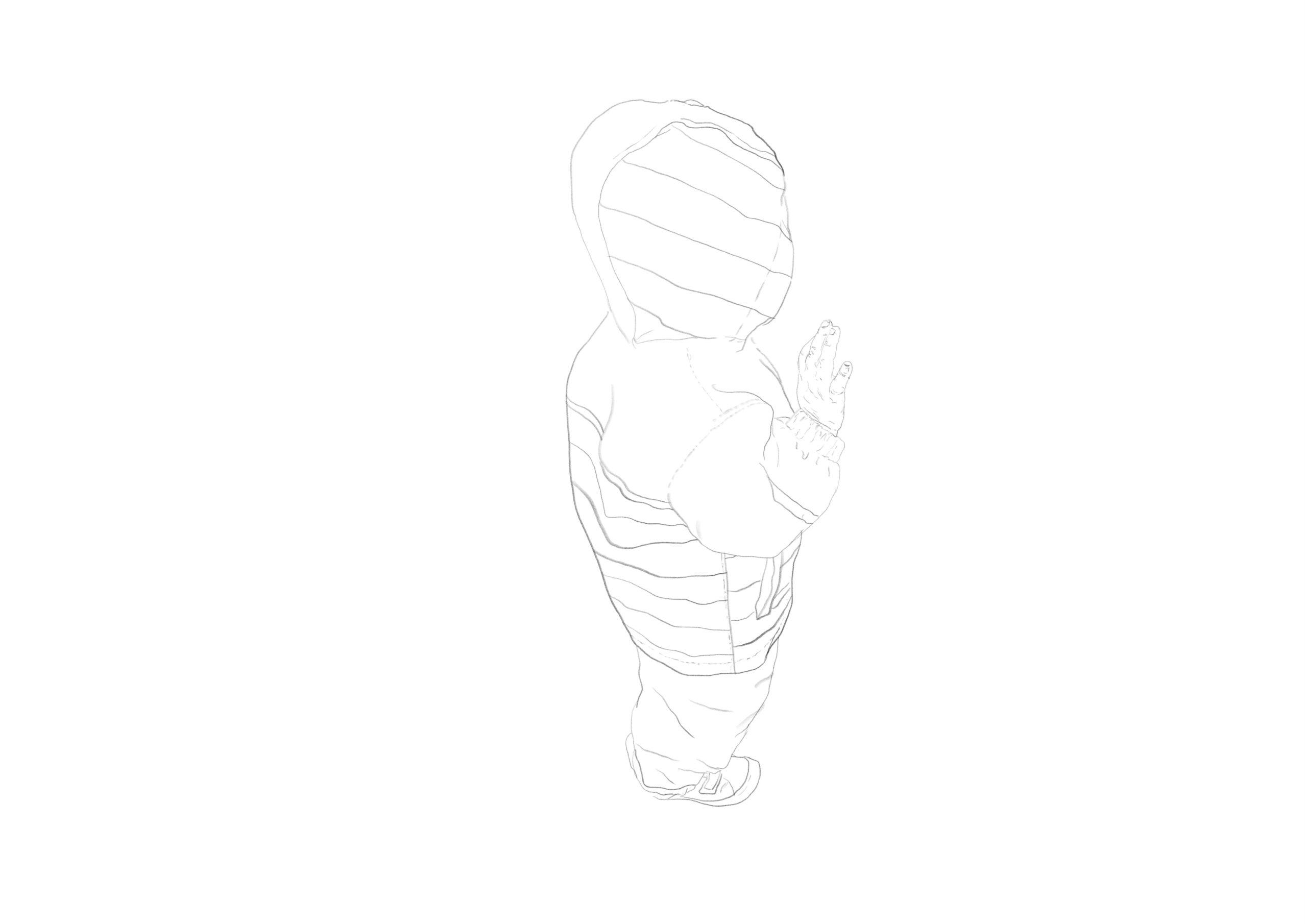 Ariane Karwotka, schaufenstern, digitale Zeichnung/ pc-print, DIN A 4, 2020