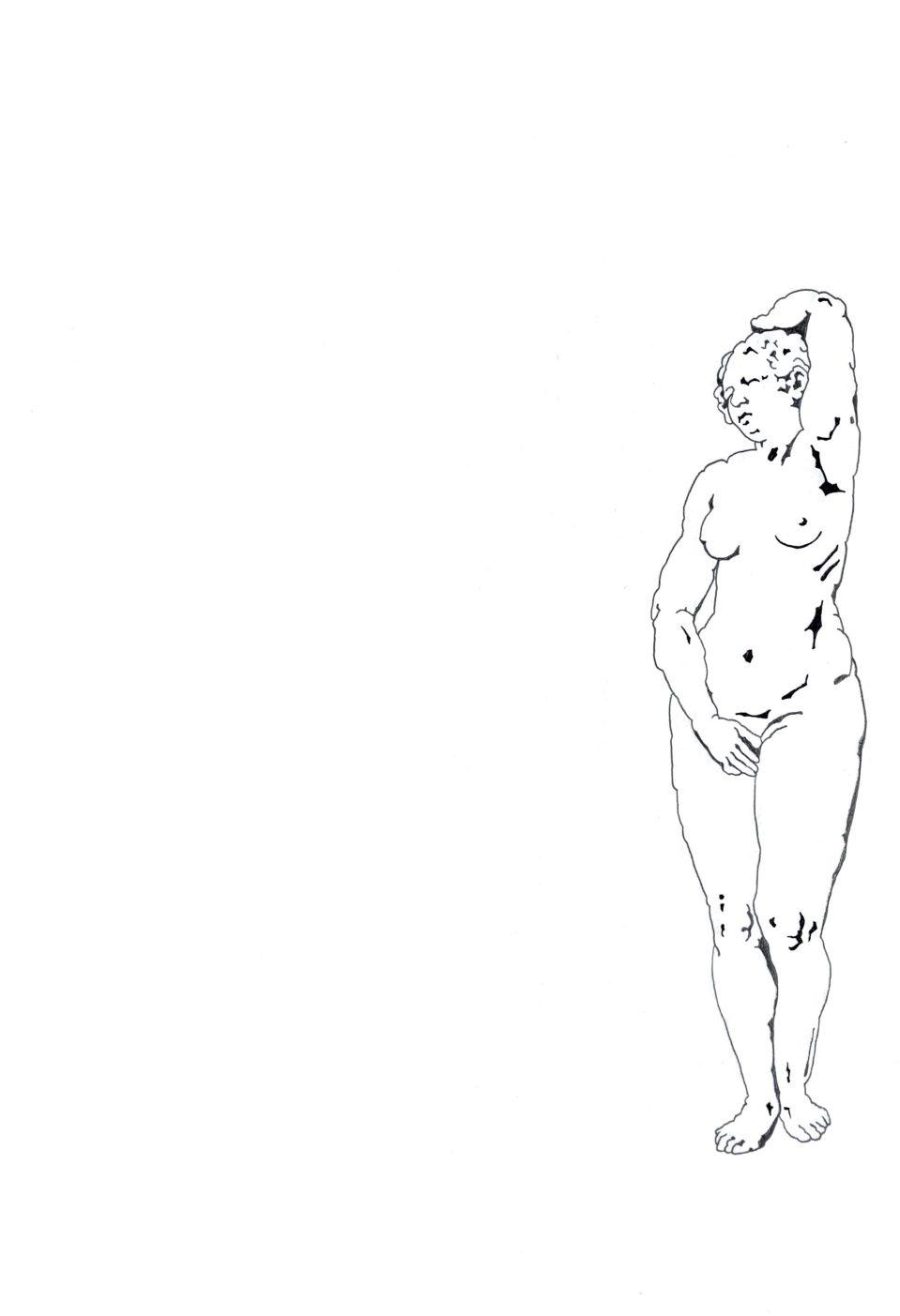 """Matthias Huber, """"keep distance: Unsicherheit"""", 21x29,7cm, Graphit auf Papier, 2020"""