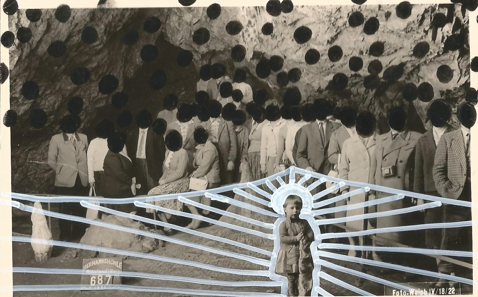 Sofia Mansuri, #messias, Pigmentliner und Edding auf Fotopapier, 2020