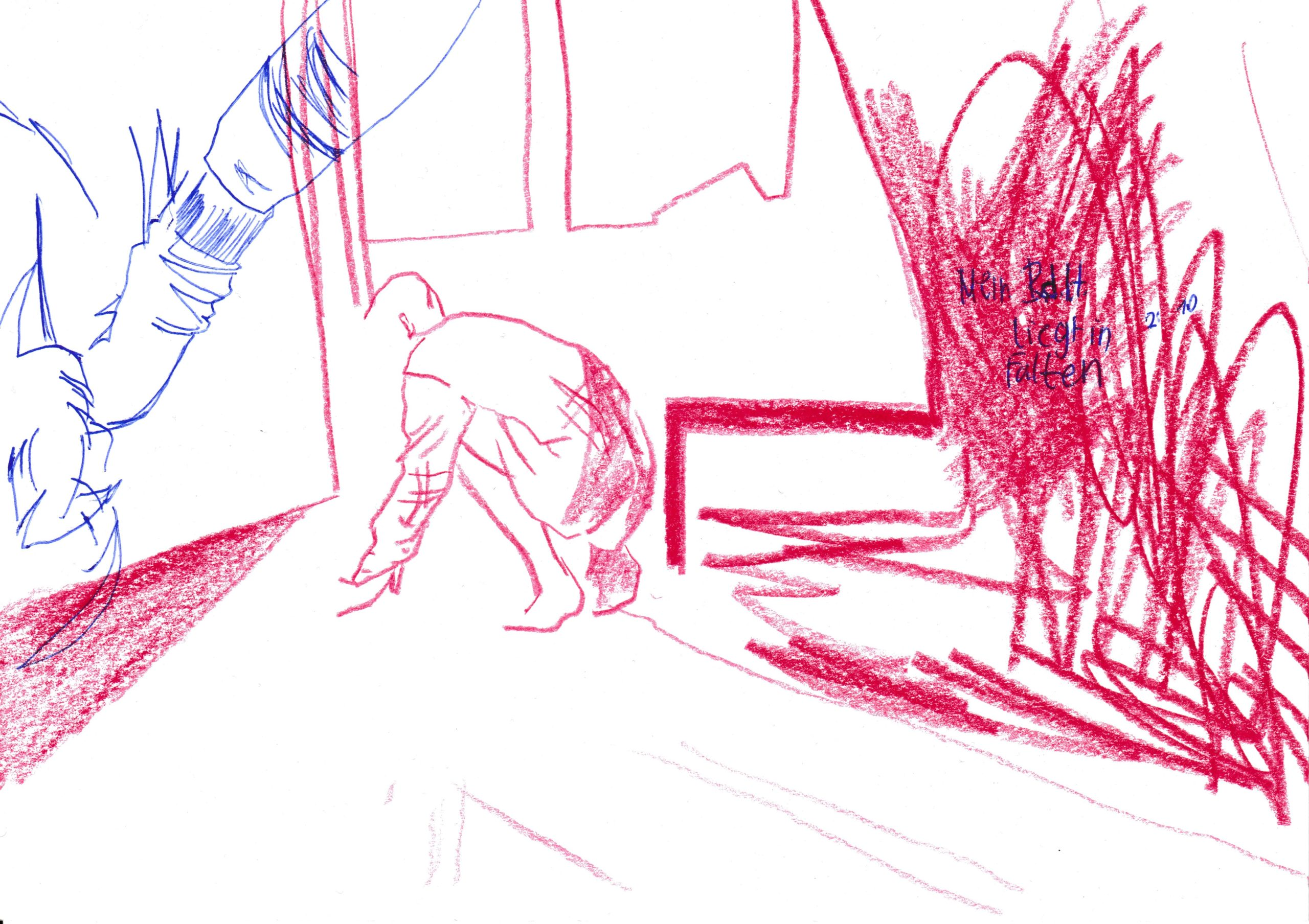 BdH, Farbstift (Polychromo) und Kugelschreiber auf Papier, DIN A5, 2020 by Melissa Hermann