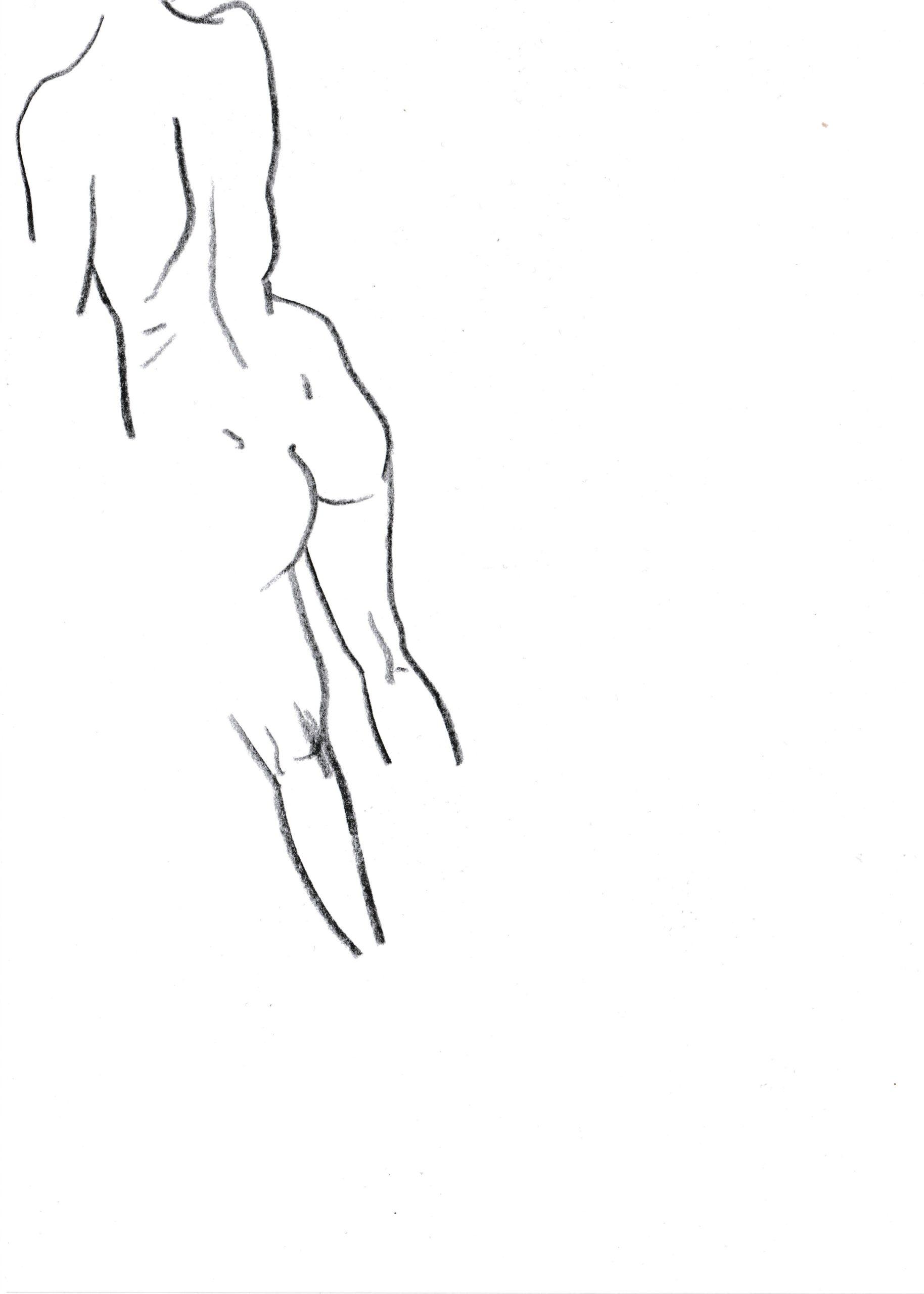 Anamnese 1, Bleistift auf Papier, DIN A5, 2020 by Melissa Hermann
