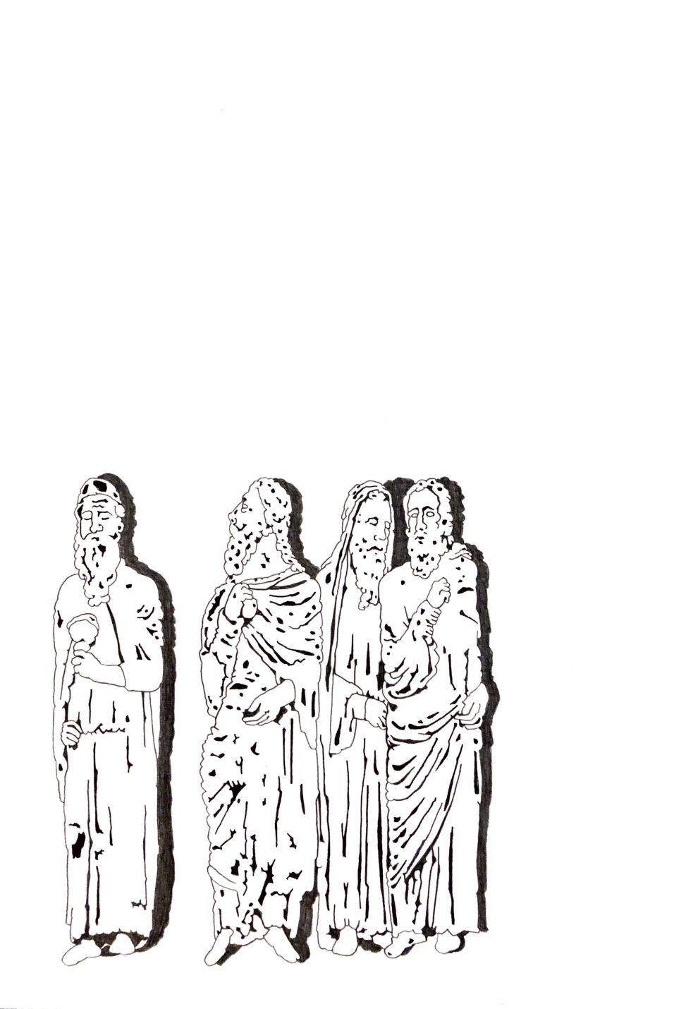 """Matthias Huber, """"keep distance: Meinungen"""", Graphit auf Papier, 21x29,7cm, 2020"""