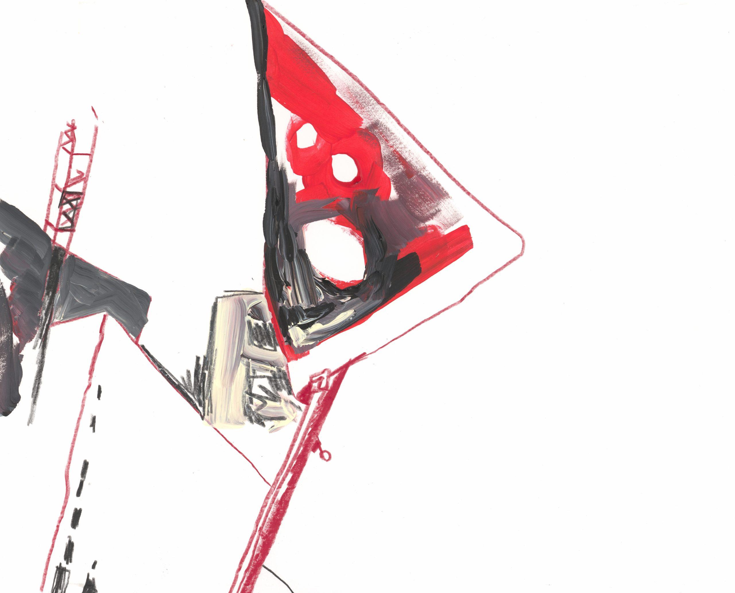 Stadcorpi 1a, Farbstift (Polychromo) und Acryl auf Papier,  2019 by Melissa Hermann
