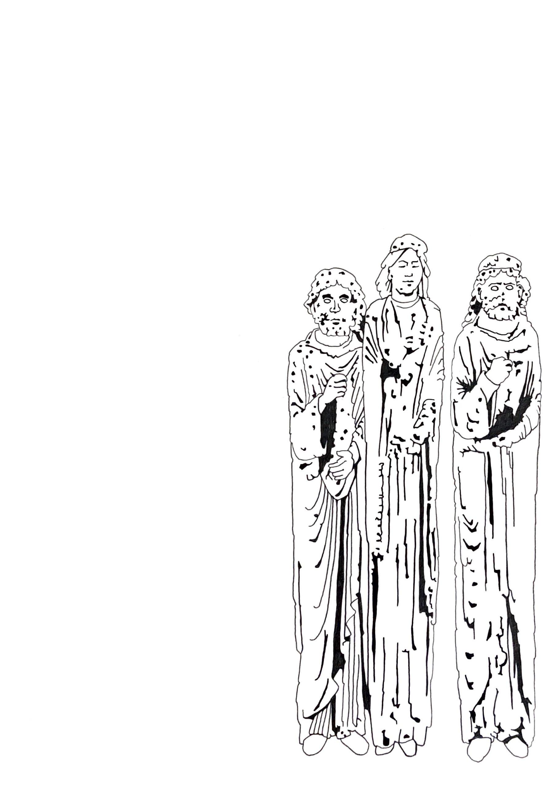 """Matthias Huber, """"keep distance: Lehre II"""", Graphit auf Papier, 21x 29,7cm, 2020"""