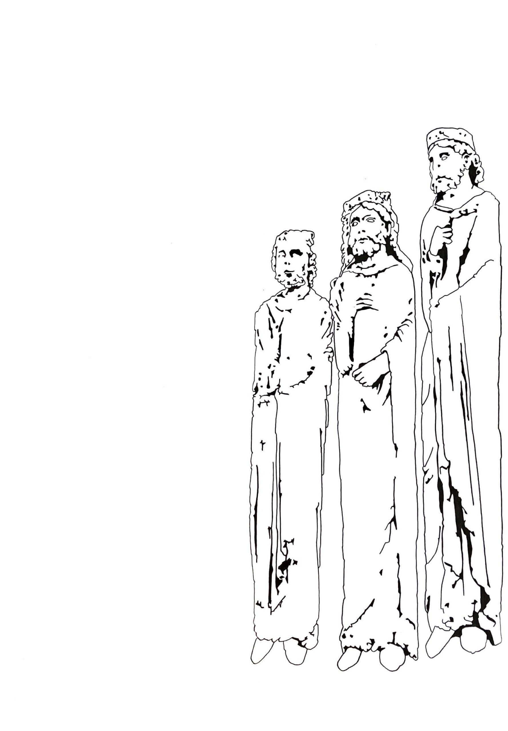 """Matthias Huber, """"keep distance: Miteinander"""", Graphit auf Papier, 21x29,7cm, 2020"""