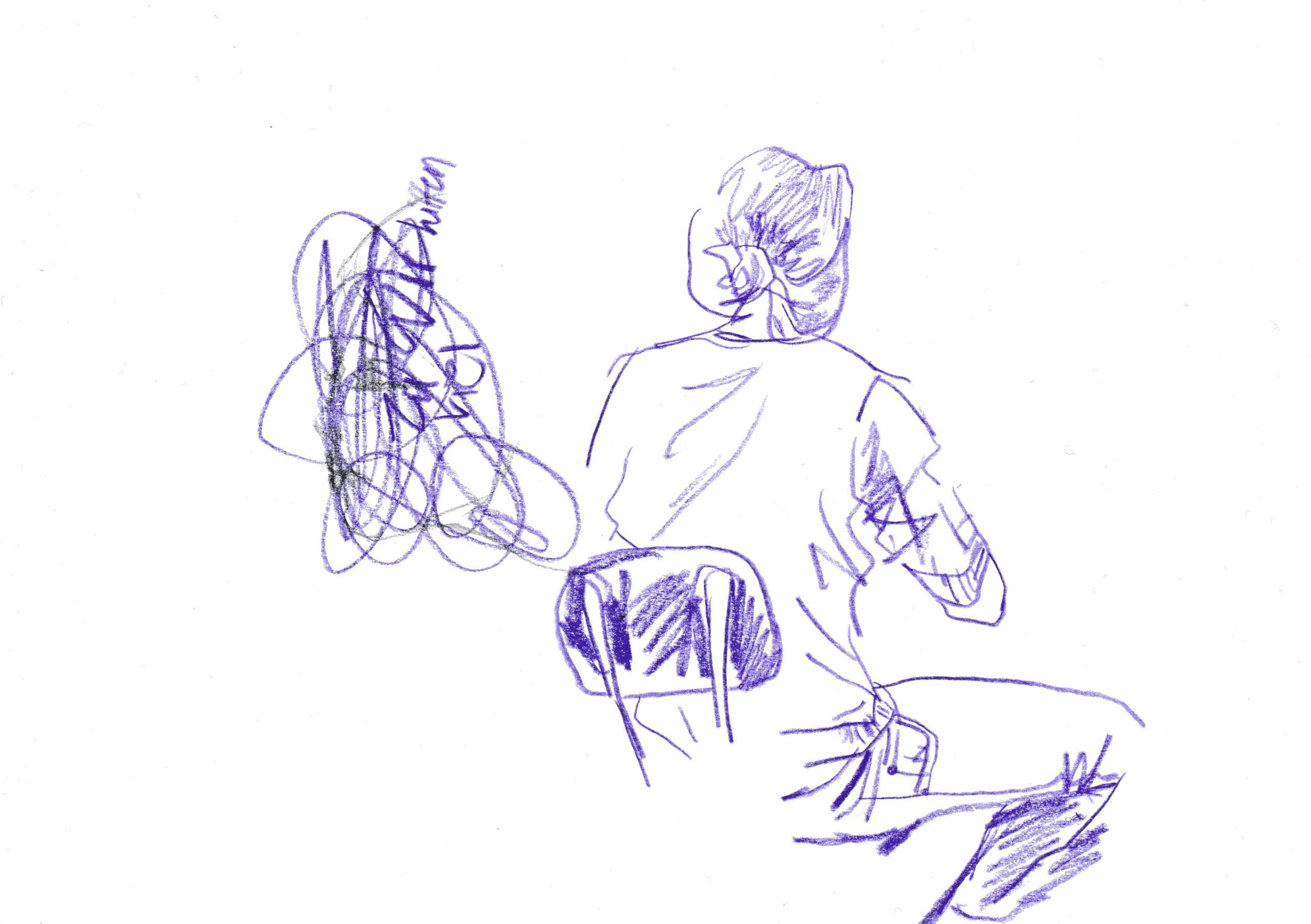 Farbstift auf Papier,DIN A5 , 2020, Melissa Hermann